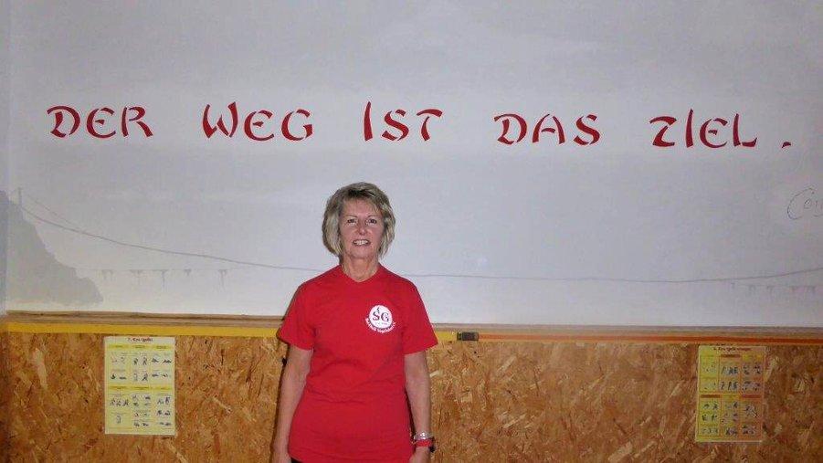 Übungsleiterin Christine
